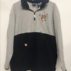 VTG Disney Tigger pullover fleece sweatshirt Large